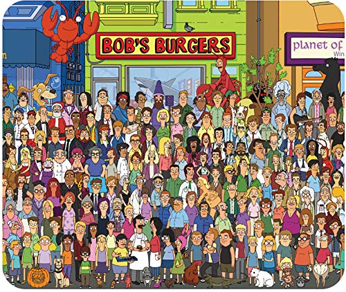 Bob Burgers - Character Collage - Mouse Pad - Standard Size (10' x 8.5') - Non Slip