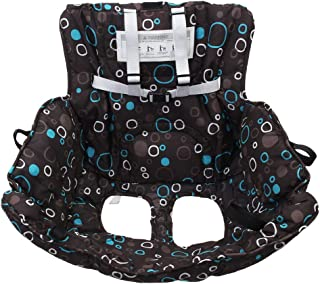 Baoblaze 2 in 1 Foldable Baby Cart Seat Cover Protection Trolley Pad with Safety Belt - Black, 80x80cm