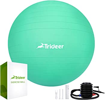 Trideer Exercise Yoga Ball with Quick Pump
