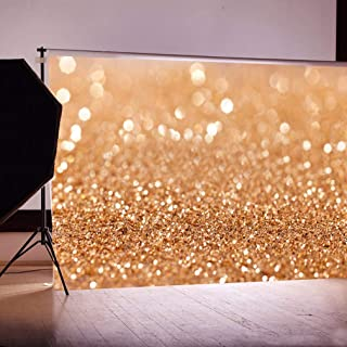 DODOING 7x5ft Photography Background, Gold Sequin Bokeh Glitter Photo Backdrop, Wedding Photo Booth Props, Birthday Party Ceremony Background, Studio Props Backdrop
