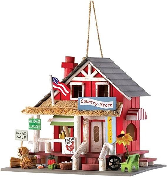 Gifts Decor Rustic Old Time Country Store Wooden Bird House