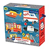 "Mudpuppy to The Rescue! Jumbo Puzzle, 25 Jumbo Pieces, 22""x22"" – Great for Kids Age 2+ - Fun Colorful Illustrations of Hard-Working Animals in Rescue Vehicles – Convenient Rope Handle on Box"