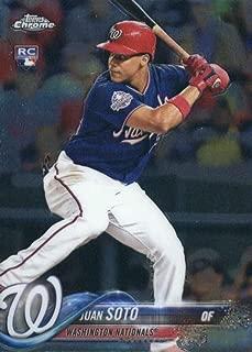 2018 Topps Chrome Update #HMT55 Juan Soto Washington Nationals Rookie Baseball Card