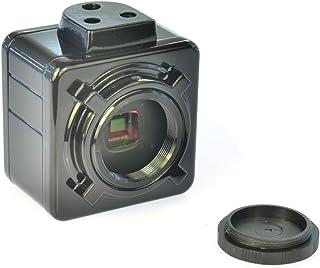 KKmoon USB単眼顕微鏡カメラ 単眼顕微鏡カメラ 顕微鏡カメラ 5MP USB2.0 CCDアダプタ 0.5X 産業用カメラ