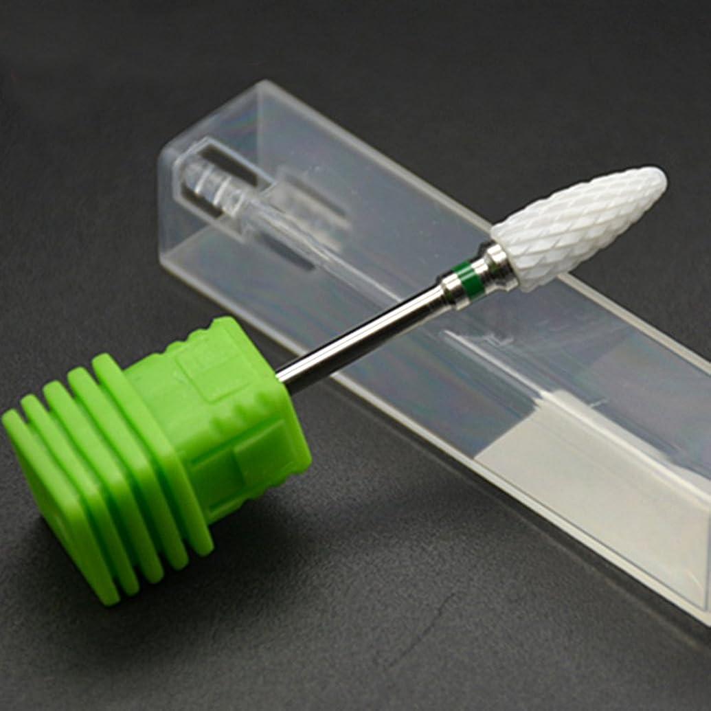 媒染剤オート拘束するネイルアートツール電気マニキュアカッターネイルファイルセラミックネイルドリルビット電気マニキュアマシンアクセサリー(グリーン)