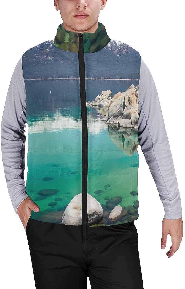 InterestPrint Men's Breathable Sleeveless Coat for Climbing Sailboat Sunset