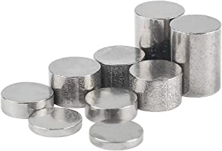 Tanlee 2.125 Ounce Totally Tungsten Weights Cylinders Weights in Assorted Sizes to Optimize Car Speed Compatible with Pinewood Derby Cars