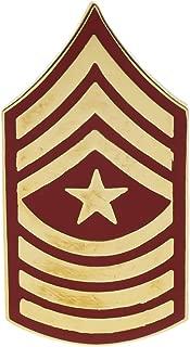 USMC Marines E-9 Sergeant Major Gold & Red Tone Hat or Lapel Pin H14394D153