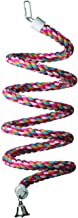 """Super Bird Creations SB325 Colorful Cotton Bungee Rope Bird Toy with Ringing Bell, Large Size, 9/10"""" x 96"""""""