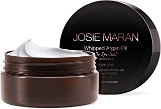 Josie Maran Whipped Argan Oil Body Butter - Immediate, Lightweight, and Long-Lasting Nourishment to Soften and Hydrate Skin (59 ml/2.0 oz, Sweet Citrus)