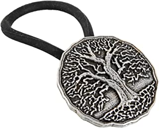Ponytail Holder, Hair Accessory, Women's Hair Tie, Tree of Life, Handcrafted in the USA by Oberon Design
