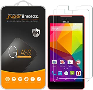 (2 Pack) Supershieldz for BLU Studio C 5+5 Tempered Glass Screen Protector, Anti Scratch, Bubble Free