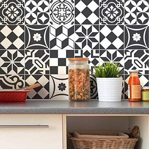Carreaux de ciment adhésif mural - azulejos - 20 x 20 cm - 24 pièces