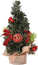 Amosfun Mini Tabletop Christmas Tree Artificial Mini Xmas Pine Tree for Xmas Holiday Party Table Decoration (Red)