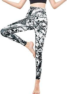 FANDIMU Women Printed Yoga Pants Leggings High Waist Compression Pants Workout Tights Running Tummy Control Pants