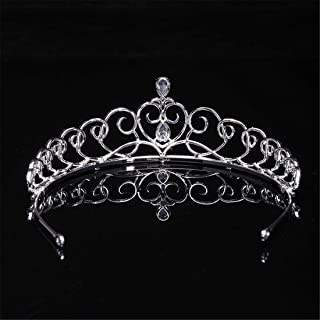 SUIWO Princess Gems Gems Gems Strass Tiara Kid Girl Prom Birthday Princess Party Crown Fascia Bride Head Accessori per Cap...