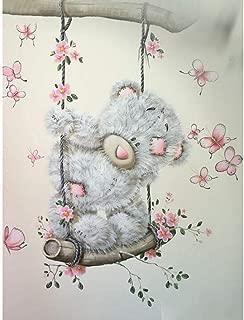 Asmyu Full Picture 5D DIY Diamond Painting Cartoon Bear Embroidery Cross Stitch Diamond Dots Swing Bear 5D Home Decoration Gifts(40X50Cm Round Drill)