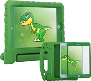 HDE Case for iPad Mini 1 2 3 Kids Shockproof Bumper Hard Cover Handle Stand with Built in Screen Protector for Apple iPad Mini 1st 2nd 3rd Generation (Green)