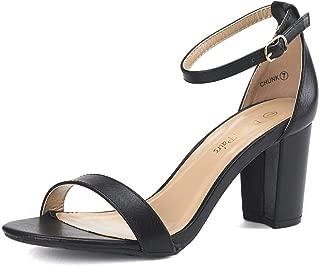 Women's Chunk Low Heel Pump Sandals