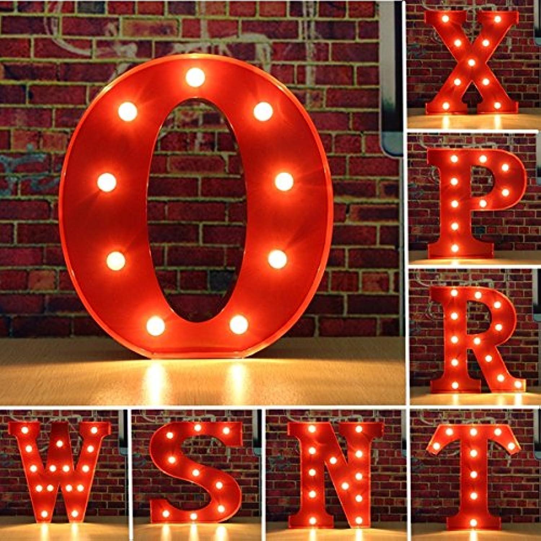 JINHUGU Weinlese-Metall-LED-Licht DIY Buchstabe N zu X Zeichen-Karnevals-Wand-Festzelt-Dekoration Letter O B07MGYS55Y | Schön geformt