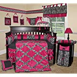 SISI Baby Bedding -Hot Pink Zebra 15 PCS Crib Bedding by Sisi