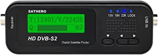 SATHERO SH-100HD Signal Finder Meter DVB-S/S2 HD Digital TV Signal Finder Receiver LCD Dispaly