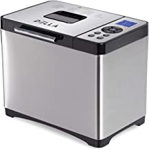 Stainless Steel Bread Machine,1500W 2LB 19-in-1 Programmable Bread Maker Digital Touch Panel 3 Loaf Sizes 3 Crust Colors