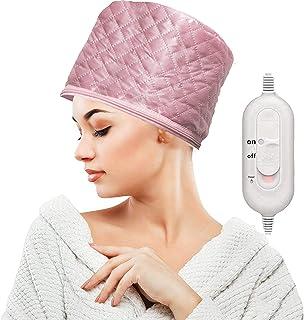 Pink Hair Thermal Treatment Beauty Steamer Spa Cap Hair Care Nourishing