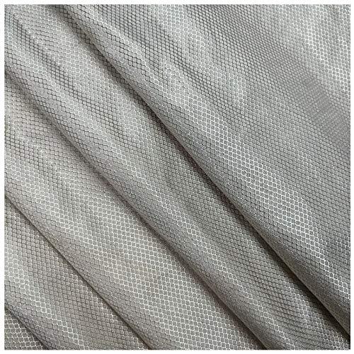 PHBSF Faraday Fabric Emf Protection Fabric Silberfasermaterial Strahlenschutzleitendes Tuch Diamantgitter Hohe Elektromagnetische Abschirmung(Size:1.5x5m)