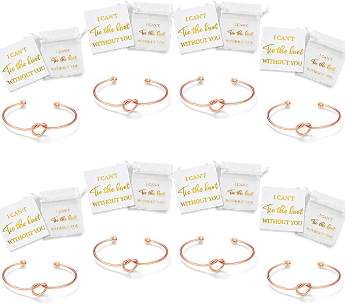 6 JUDITH /& FLORINE I Cant Tie The Knot Without You Bridesmaids Gift Set of 4