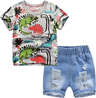 ZL4CH Toddler Boys Size 6T Blue Jean Shorts Ripped Denim Graphic Bottom