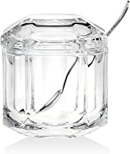 Crystal Symmetry Covered Jar With Stainless Spoon