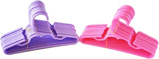 Brittany`s 24 Pack 12 Pink 12 Purple Plastic Doll Hangers Fits 18 Inch Doll Clothes