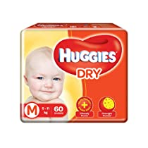 [Pantry] Huggies New Dry Pants, Medium (M) Size Baby Diaper Pants, 60 count, with Bubble Bed Technology