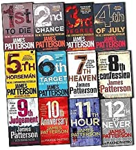 James Patterson Womens Murder Club 12 Books Collection Pack Set (1st To Die, 2nd Chance, 3rd Degree, 4th of July, The 5th ...