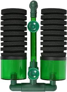 Filtros para Acuarios, Filtro Bioquímico para Acuario Contiene 2 Esponjas y Hay 1 Portafiltros en la Esponja,Hay 2 Ventosa...