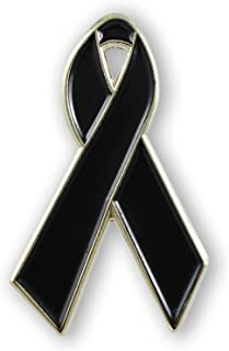 Forge Black Awareness Ribbon Pin