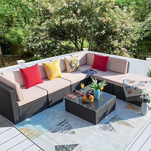 Homall 7 Pieces Patio Outdoor Furniture