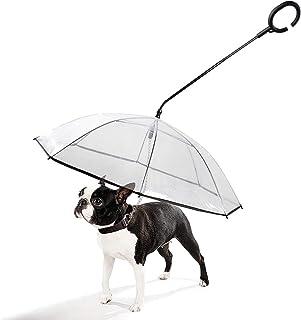 Namsan Dog Umbrella Rainproof Snow-Proof Pet Umbrella with Leash for Small Dogs