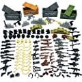 Taken All Custom Military Army Weapons and Accessories Set Compatible Major Brands ?Accessories - Hats, Weapons, Tools, Modern Assault Pack Military Building Blocks Toy (Original Version) by Taken All