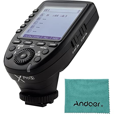 Godox XproS TTL Transmisor de disparador inalámbrico compatible con TTL Autoflash 1 / 8000s HSS LCD grande 5 Botones de grupo 11 Funciones personalizables para Sony a7 II a77 a99 ILCE-6000L