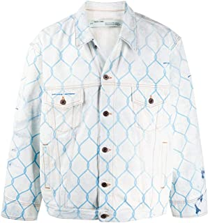 OFF-WHITE Luxury Fashion Mens OMYE051S203860307131 Light Blue Jacket | Spring Summer 20