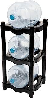 H2ORGANIZER Rack de Plástico para 3 Garrafones, Resistente (Negro)