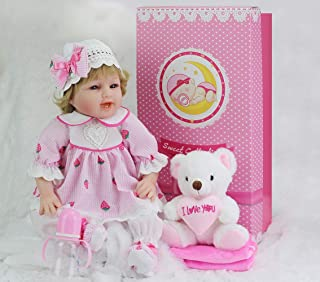 Sweet Collection Tandi Realistic Reborn Baby Doll 22in Handmade Soft Silcone Lifelike 8-Piece Gift Set Baby Birthday&Xmas Gift