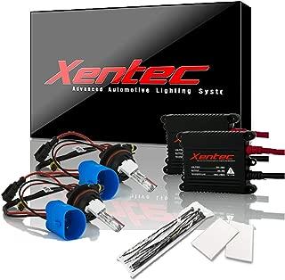 Xentec 9007 (HB5) 6000K Hi/Lo HID Xenon Bulb bundle with 55W EPE Alloy Slim Ballast (Ultra White, high beam halogen)