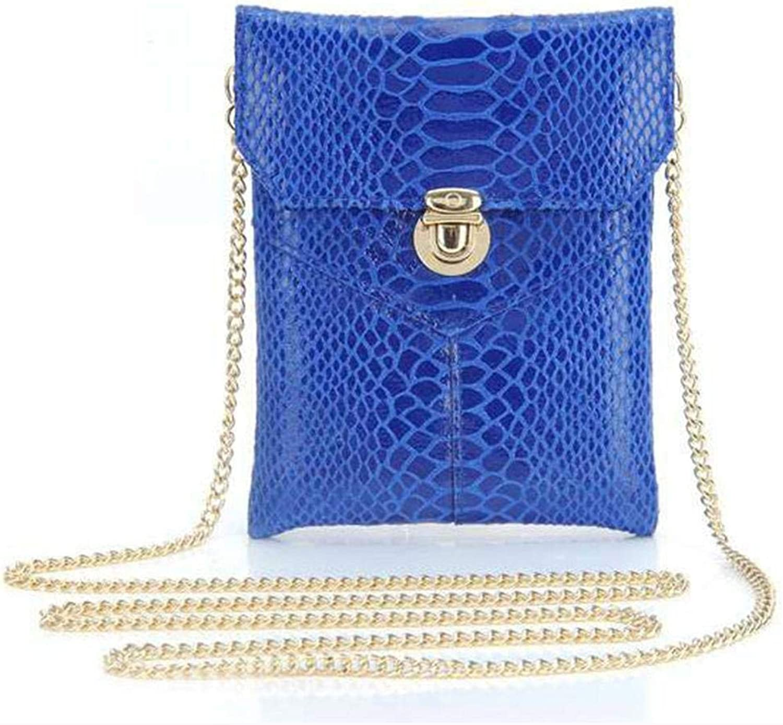 Girls Purse Women's Wallet,Cowhide Small Bag Chain Small Shoulder Baotan Shoulder Oblique Mobile Wallet
