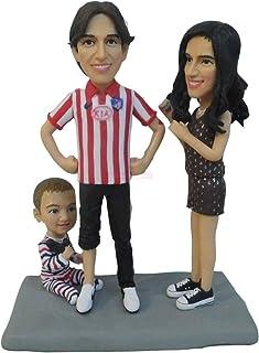 famiglia 3 persone figura figurina per anniversario di matrimonio souvenir decorazioni per la casa memoriale presente prez...