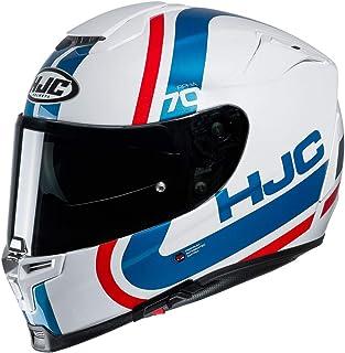 HJC Helmets Herren Nc Helmet, Weiss/Blau/Rot, M