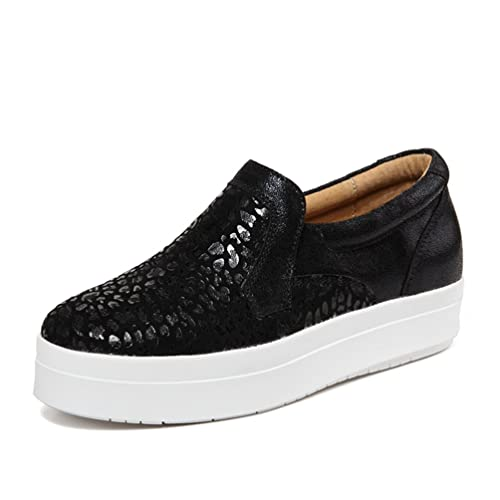 26c6bc9bd SUNROLAN Women's Platform Sneakers Leopard Print Loafers Shoes Fashion Slip  On Sneakers