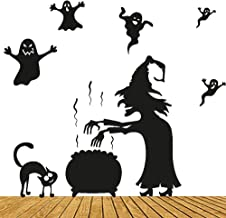 Happy Halloween heks en katten muursticker venster...
